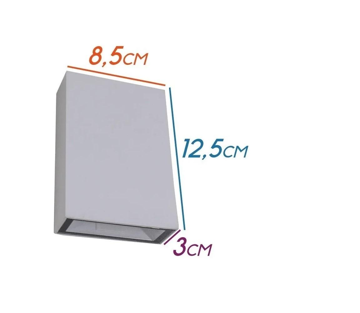 Arandela Led blindada efeito 2 faixos 4W 3000K branca Elgin kit 2 pçs  - Mix Eletro