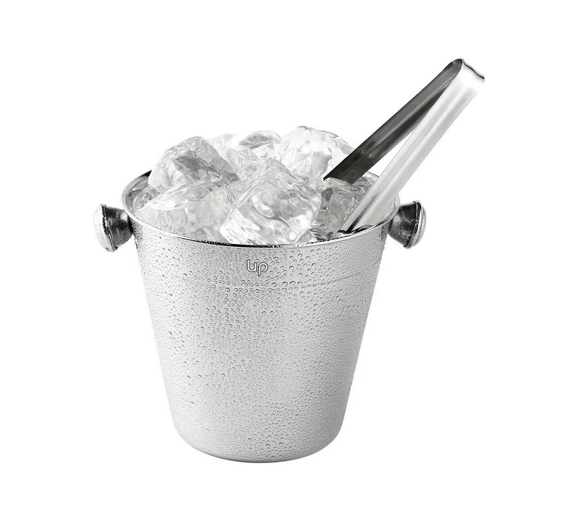 Balde de gelo em aço inox 1,5l com pegador Up Home UD016  - Mix Eletro
