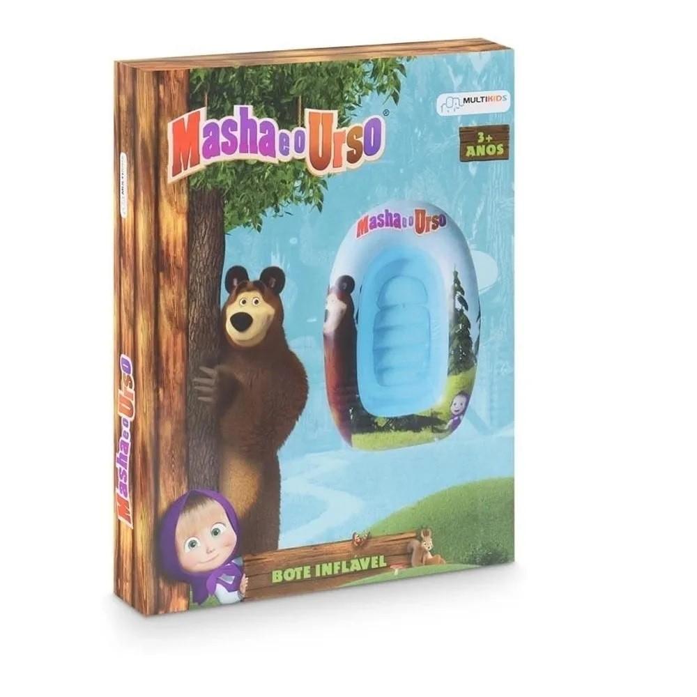 Barco inflável infantil 92cm Masha e o Urso praia piscina Multikids BR977  - Mix Eletro