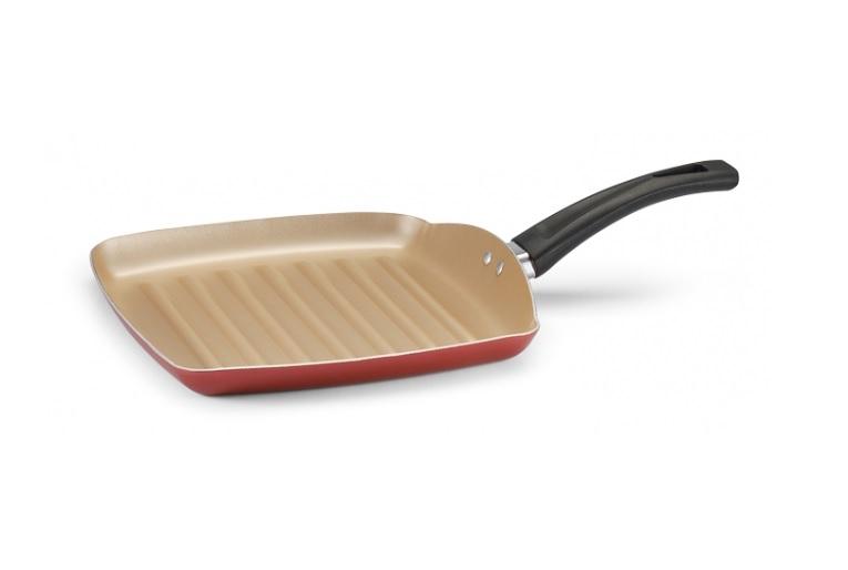 Bistequeira Quadrada antiaderente 24cm Cereja Premium Panelux  - Mix Eletro