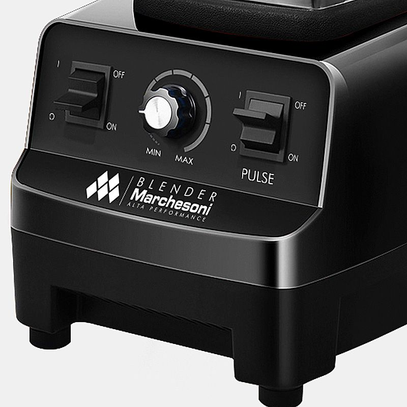 Blender Industrial Liquidificador 2 Litros 1400w Alta Rotação 25000 RPM Preto Marchesoni  - Mix Eletro