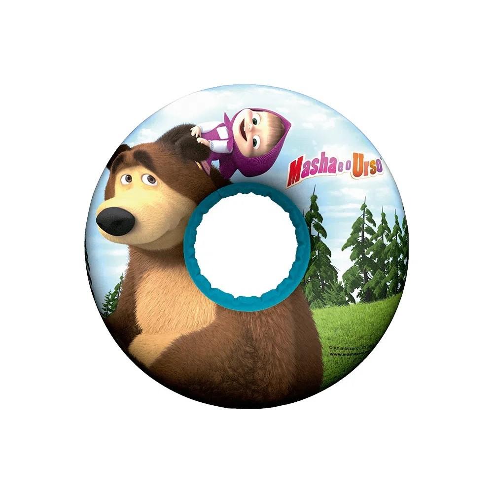 Boia inflável redonda + boia de braço Masha e o Urso praia piscina Multikids  - Mix Eletro