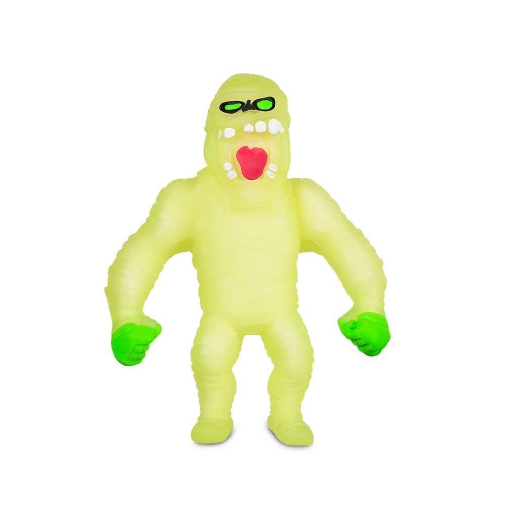 Boneco de monstro 14cm estica até 1m Estike Monster  Brilha no escuro - Múmia  - Mix Eletro