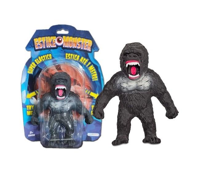 Boneco de monstro 14cm estica até 1m Estike Monster  Multikids - Gorila  - Mix Eletro