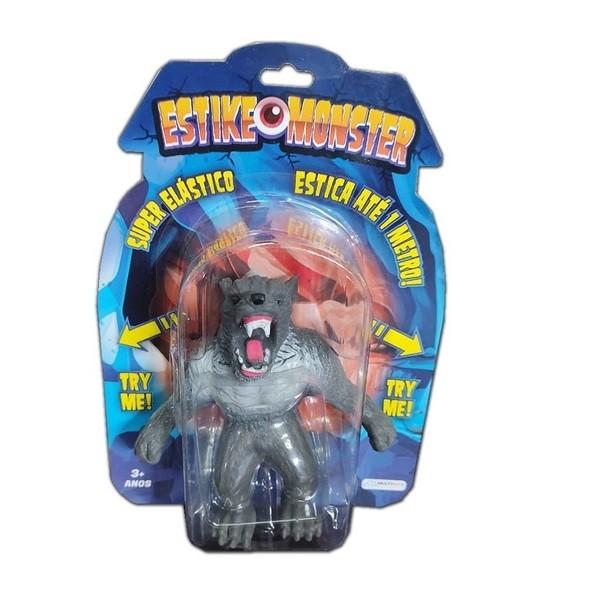 Boneco de monstro 14cm estica até 1m Estike Monster  Multikids Lobisomen  - Mix Eletro