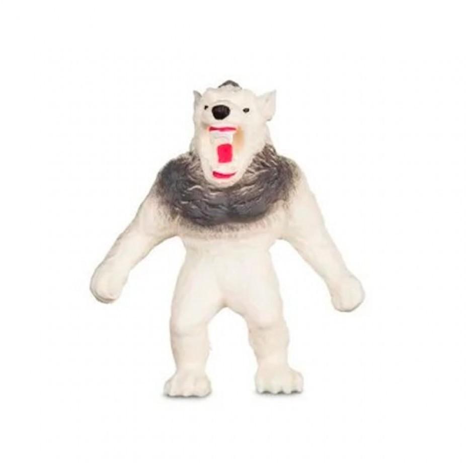 Boneco de monstro 14cm estica até 1m Estike Monster  Multikids Lobisomen Ártico  - Mix Eletro