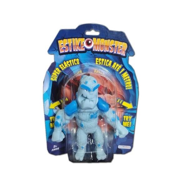Boneco de monstro 14cm estica até 1m Estike Monster  Multikids - Monstro da Neve  - Mix Eletro