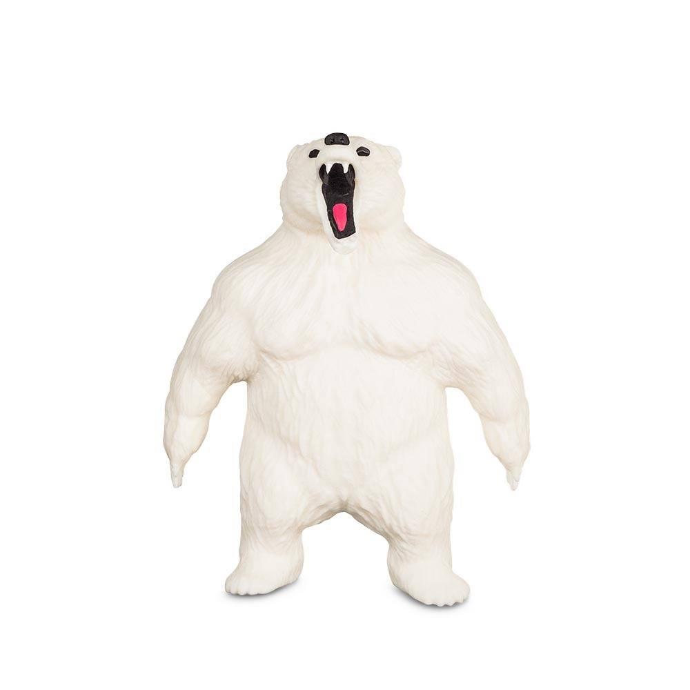 Boneco de monstro 14cm estica até 1m Estike Monster  Multikids - Urso Polar  - Mix Eletro