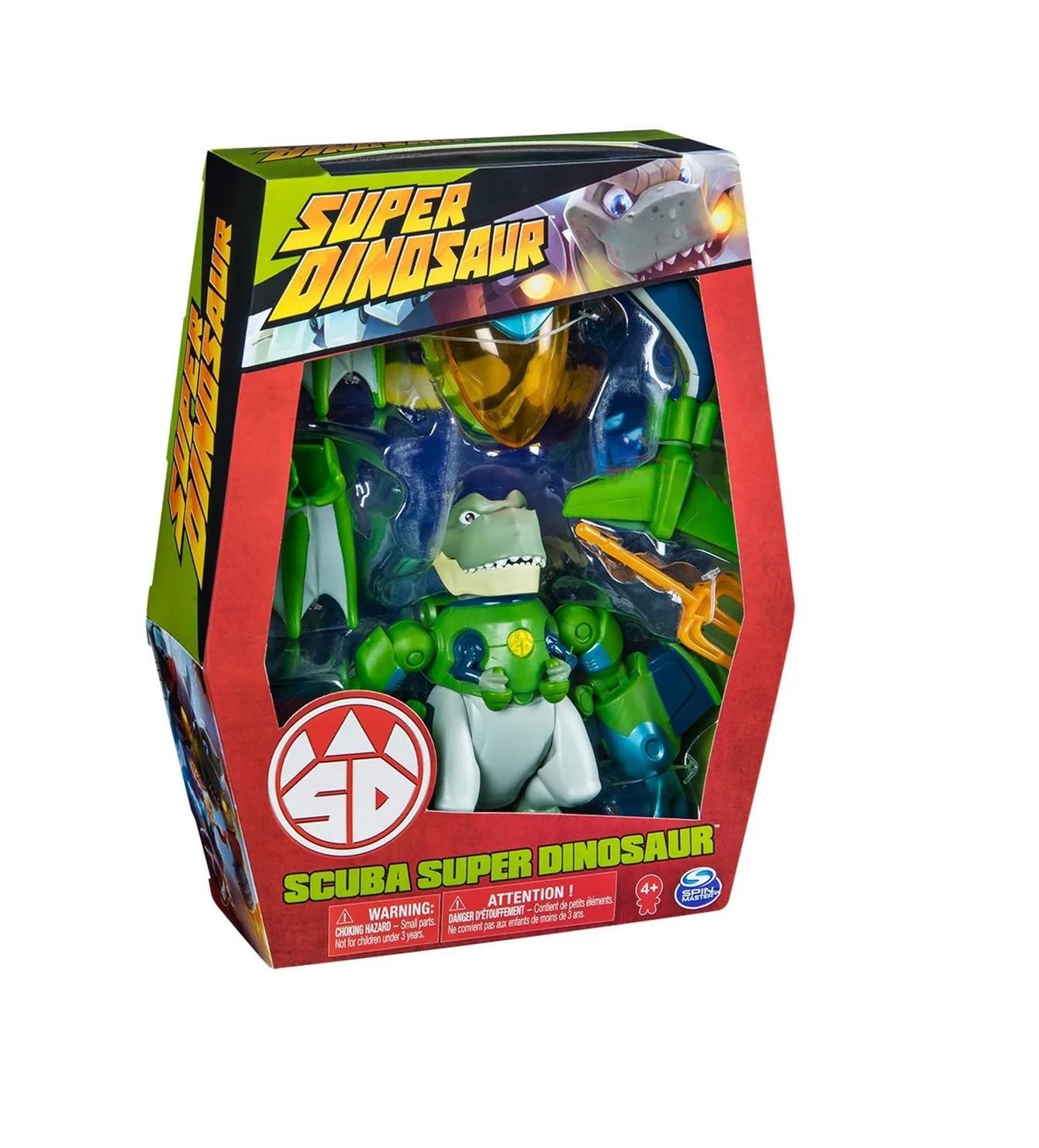 Boneco Super Dinosaur T-Rex Scuba com kit de acessórios Submarino Multikids  - Mix Eletro