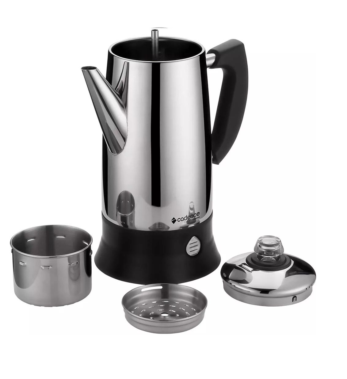 Cafeteira Italiana elétrica Aço Inox 1,7L base destacável Cadence CAF104  - Mix Eletro