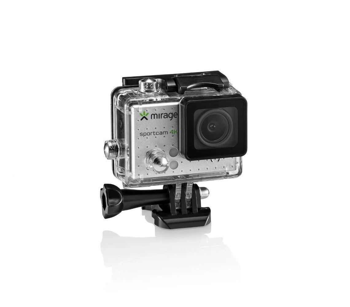 """Câmera De Ação Sport 4k Tela De LCD 2"""" 16mp + Cartão 16gb Prata Mirage MR3001  - Mix Eletro"""