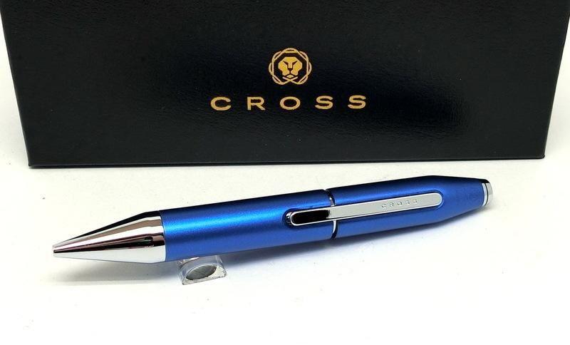Caneta Social Cross X Series Rollerball Azul metálico AT0725-4  - Mix Eletro