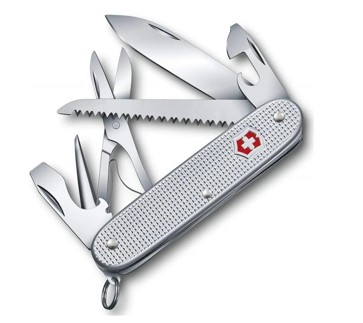 Canivete Suíço Farmer X Alox Silver Victorinox 10 funções 0.8271.26  - Mix Eletro