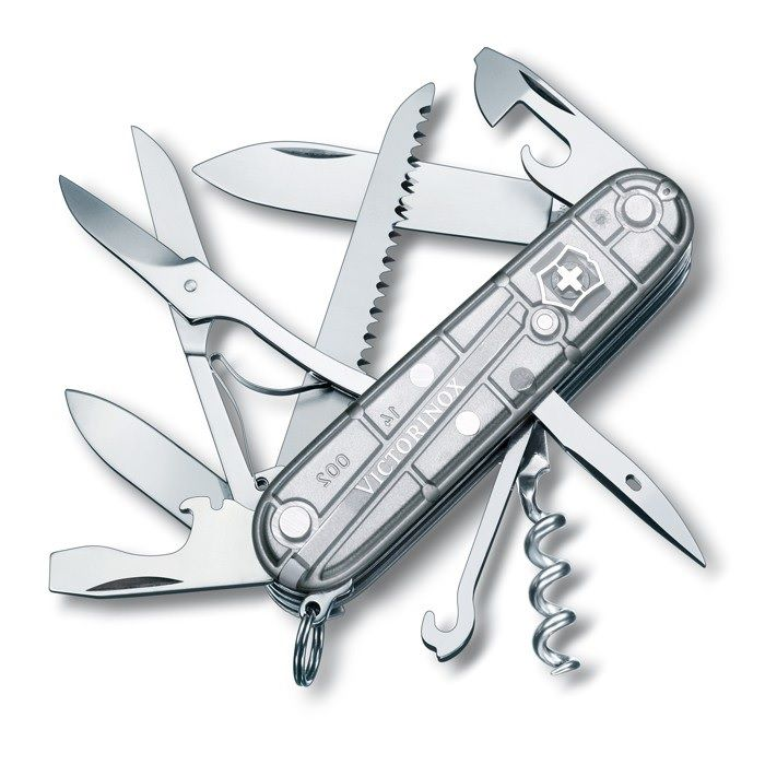 Canivete Suíço Huntsman Victorinox Silvertech 15 funções Original 1.3713.T7  - Mix Eletro