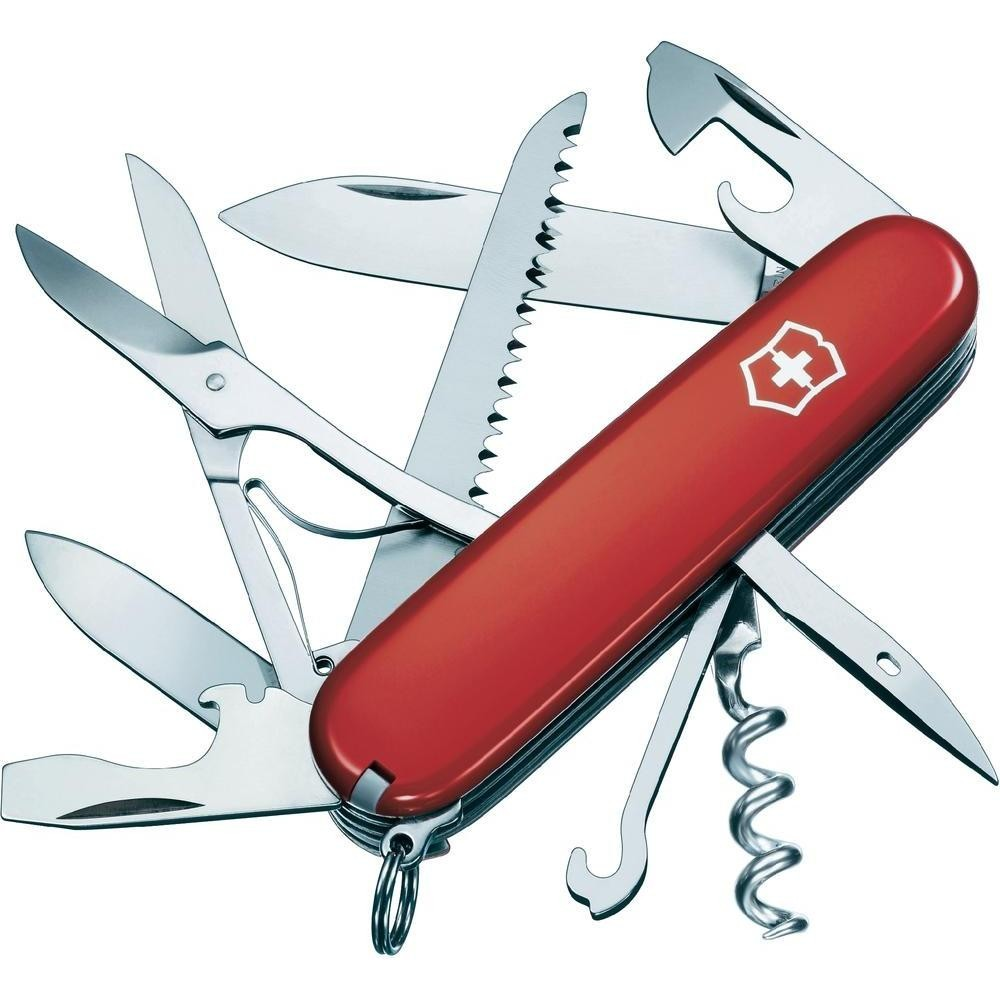 Canivete Suíço Huntsman Victorinox Vermelho 15 funções Original  - Mix Eletro