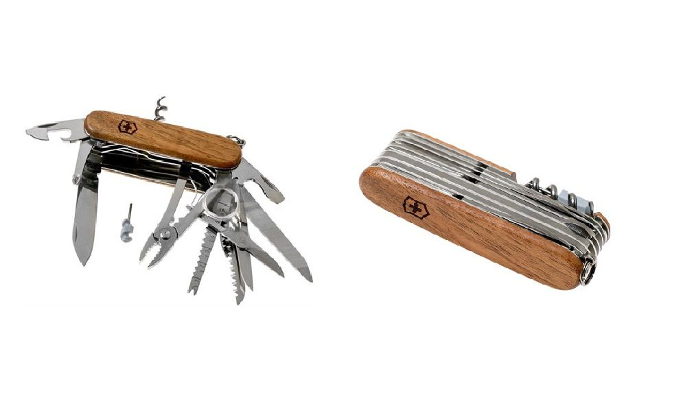 Canivete Suíço Swisschamp Wood Nogueira 29 funções Victorinox   - Mix Eletro