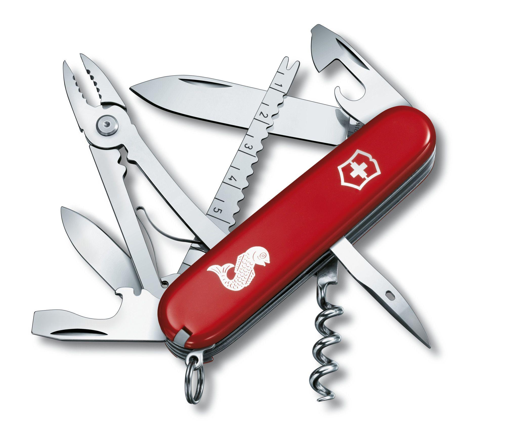 Canivete Suíço Victorinox Angler Vermelho 18 funções Original 1.3653.72  - Mix Eletro