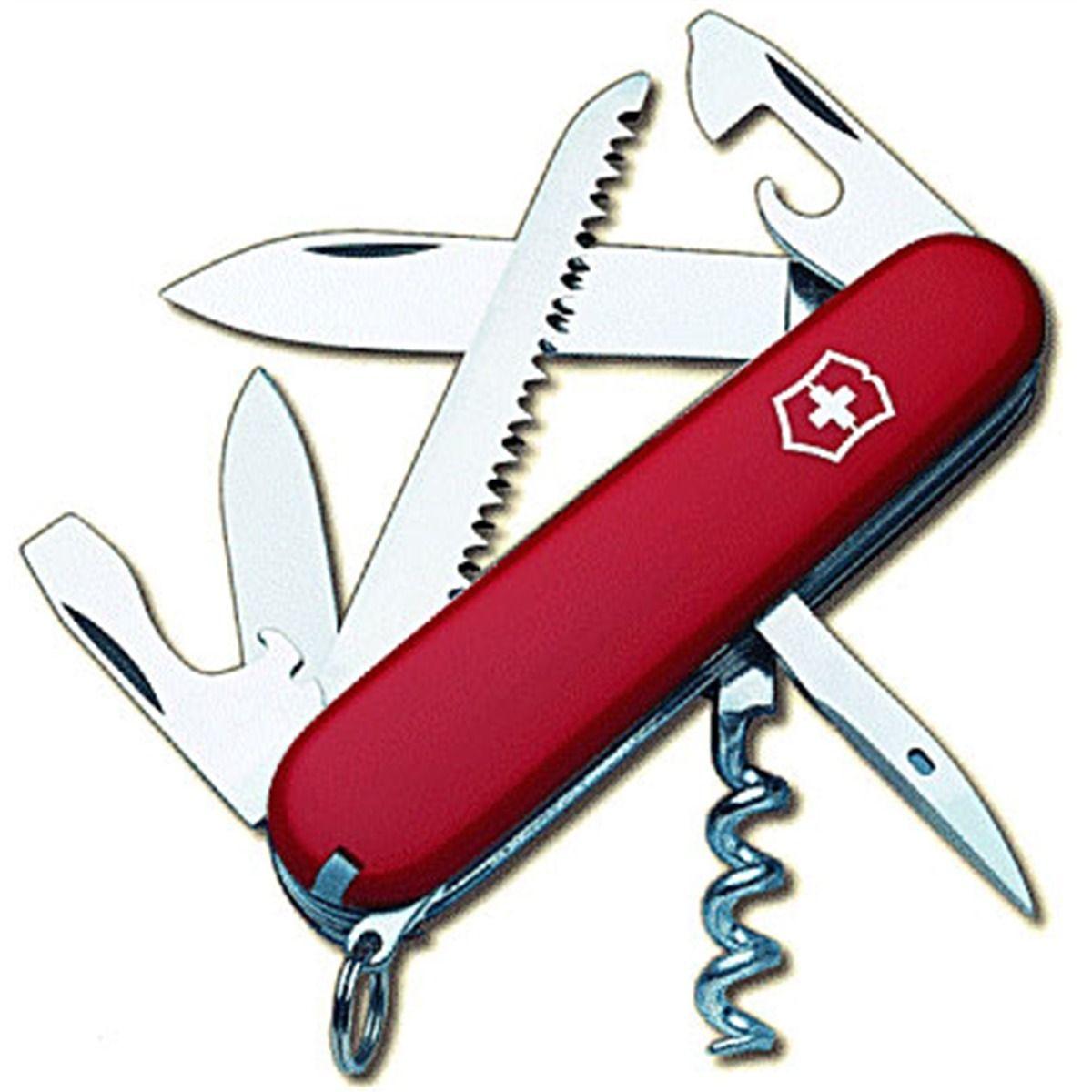 Canivete Suíço Victorinox Camper Vermelho 13 funções Original  1.3613  - Mix Eletro