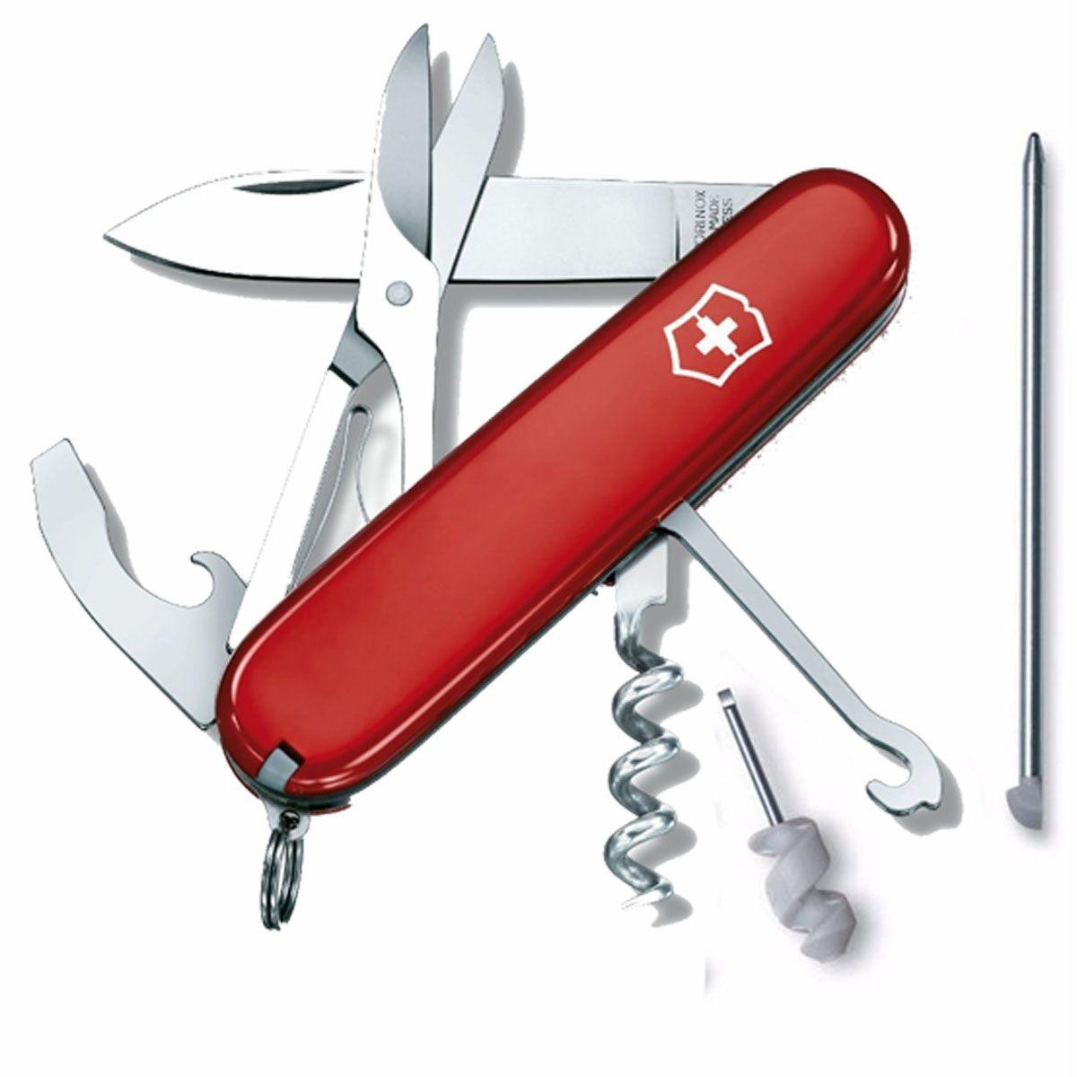 Canivete Suíço Victorinox Compact Vermelho 15 funções Original 1.3405  - Mix Eletro