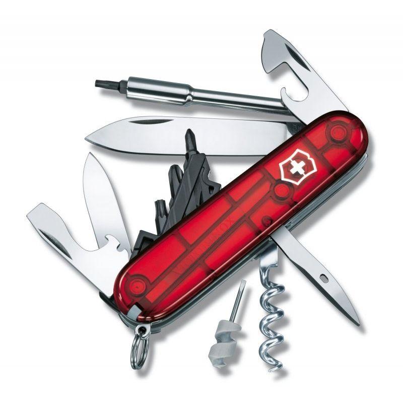 Canivete Suíço Victorinox CyberTool Vermelho Translúcido 29 funções Original 1.7605.T  - Mix Eletro