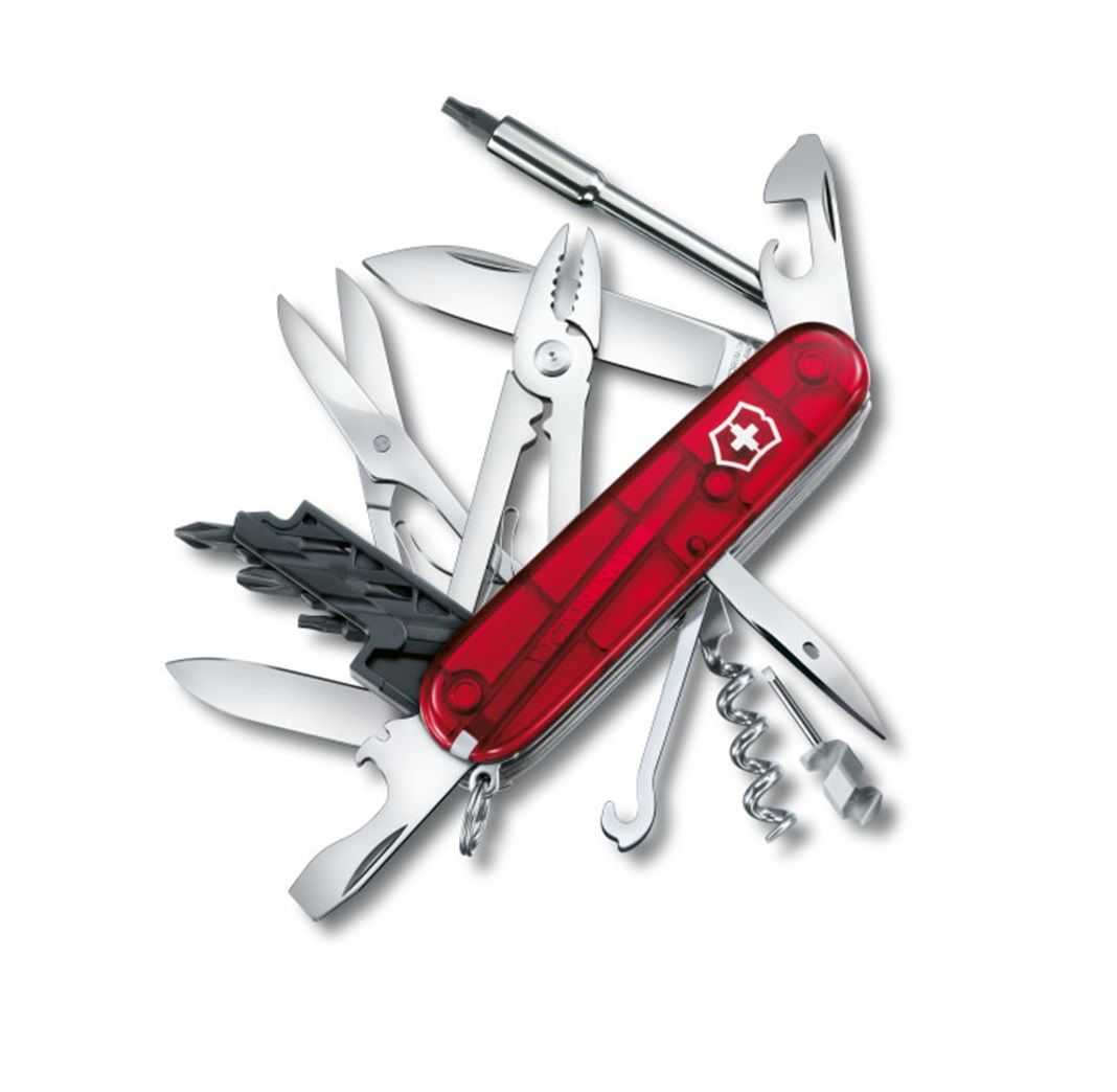Canivete Suíço Victorinox CyberTool Vermelho Translúcido 34 funções 1.7725.T  - Mix Eletro