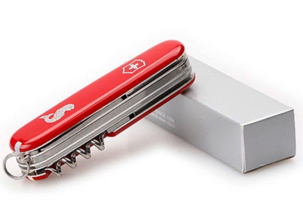 Canivete Suíço Victorinox Fisherman Vermelho 18 funções Original 1.4733.72  - Mix Eletro