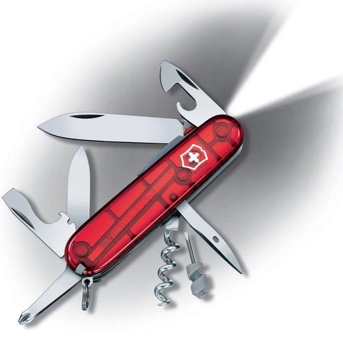 Canivete Suíço Victorinox Spartan Lite Vermelho translúcido 15 funções Original  - Mix Eletro