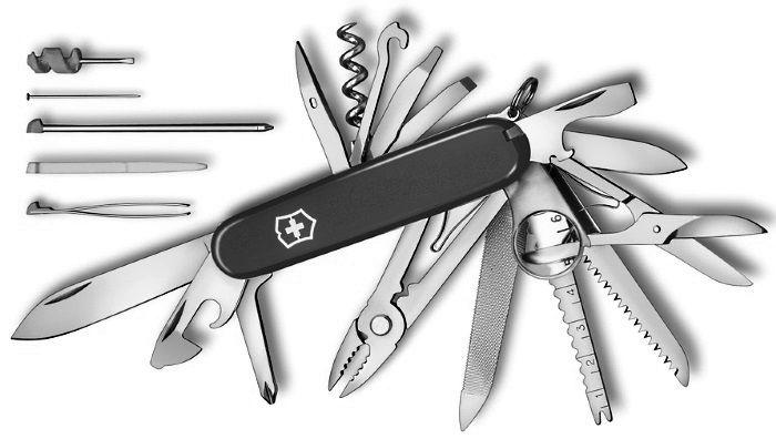 Canivete Suíço Victorinox Swisschamp Preto 33 funções Original.  - Mix Eletro