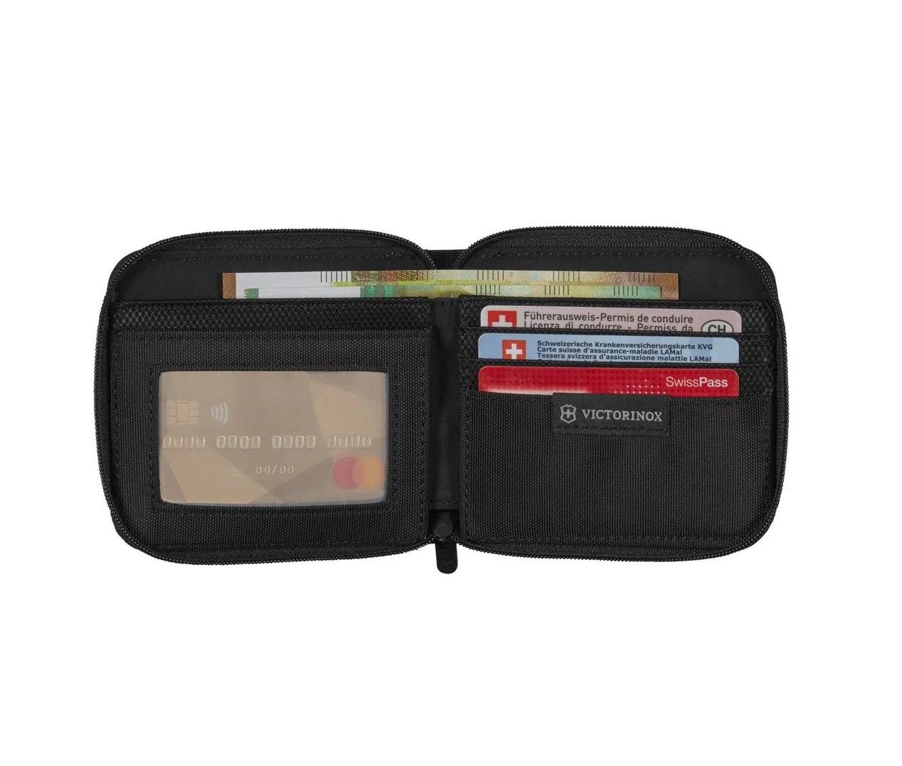 Carteira em Nylon com zíper TA 5.0 com proteção RFID Victorinox  - Mix Eletro
