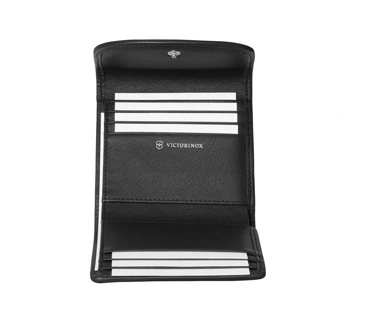 Carteira feminina Victoria 2.0 Envelope Victorinox Preta 606667  - Mix Eletro