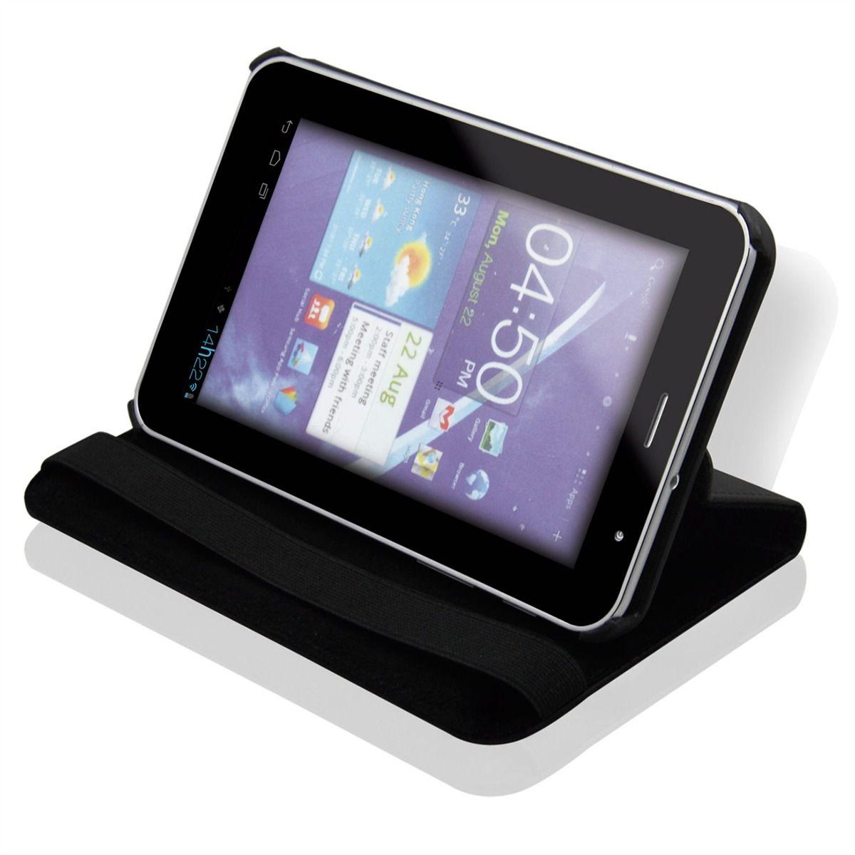Case E Suporte Giratória Para Samsung Galaxy 7Pol Preto Multilaser BO189  - Mix Eletro
