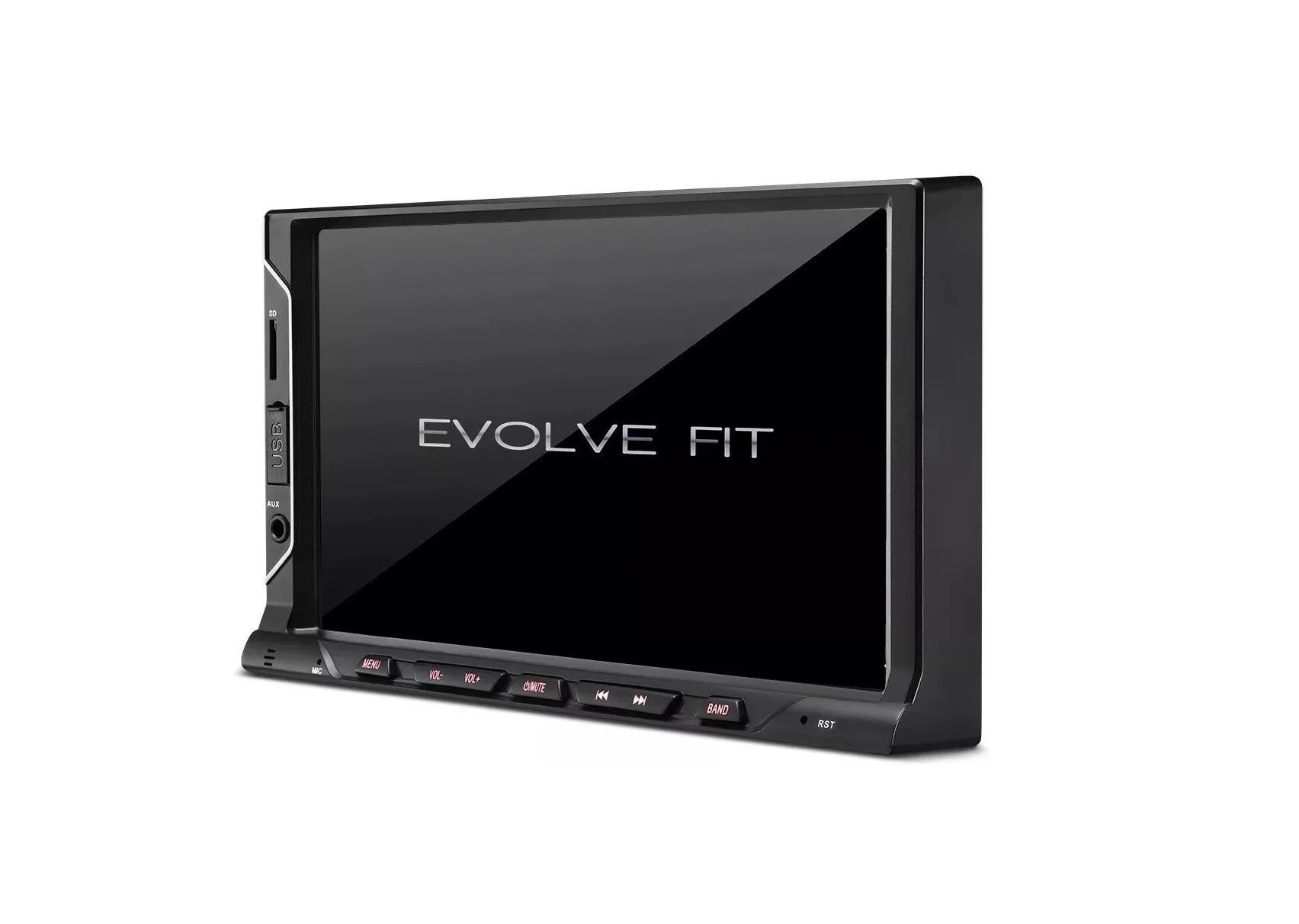 "Central Multimídia Automotiva Multilaser Evolve Fit 7"" Bluetooth Mirror Link P3328  - Mix Eletro"