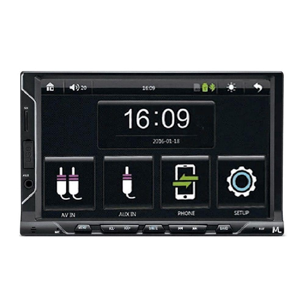 Central Multimídia Multilaser Evolve FIT S Tela 7 Pol Mirror Link iOS Android Bluetooth  - Mix Eletro