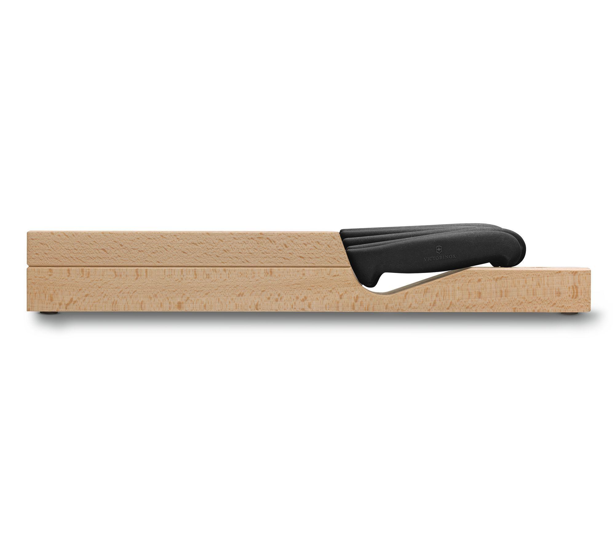 Cepo de madeira com 5 facas Swiss Classic Victorinox 5.1143.5  - Mix Eletro