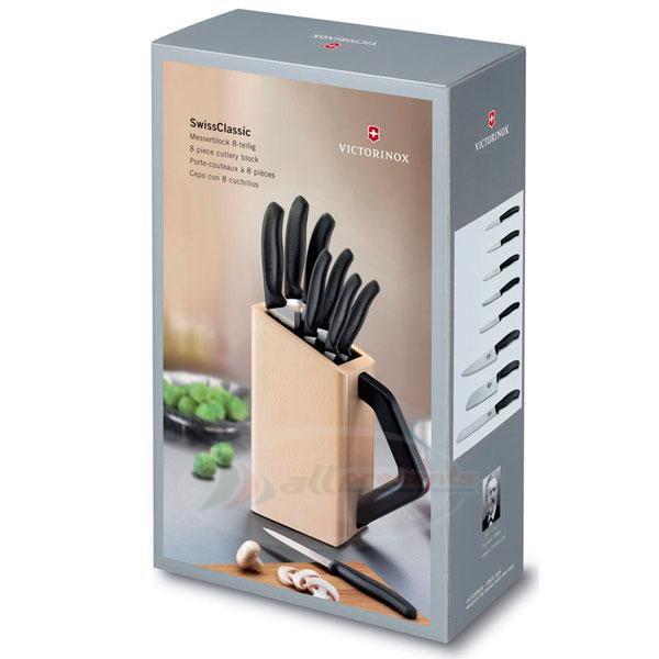 Cepo de madeira com 8 facas linha Swiss Classic Victorinox 6.7173.8  - Mix Eletro
