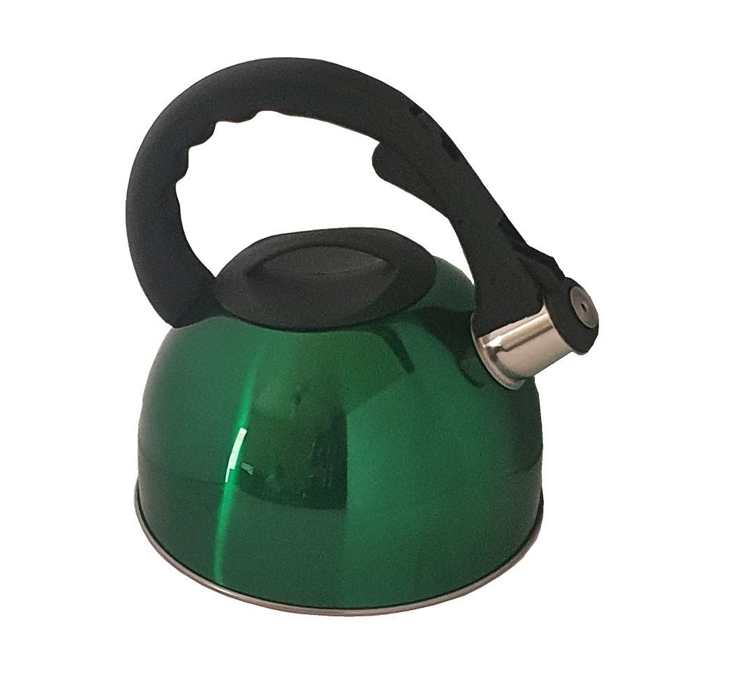 Chaleira Aço Inox 3L Verde com Apito e alça ergonômica Vec  - Mix Eletro