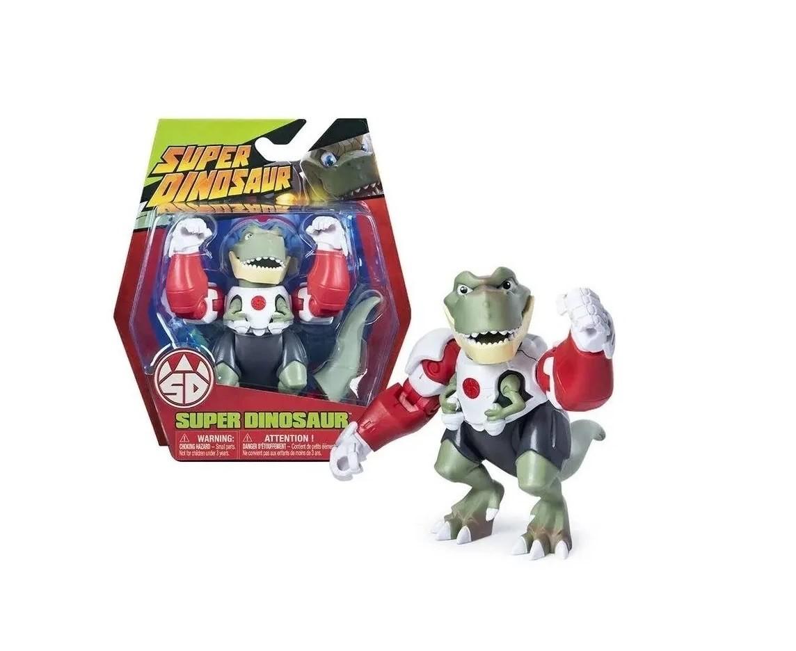 Coleção Super Dinosaur T-Rex Derek Dynamo Max Maximus e Dreadasaurus Multikids  - Mix Eletro