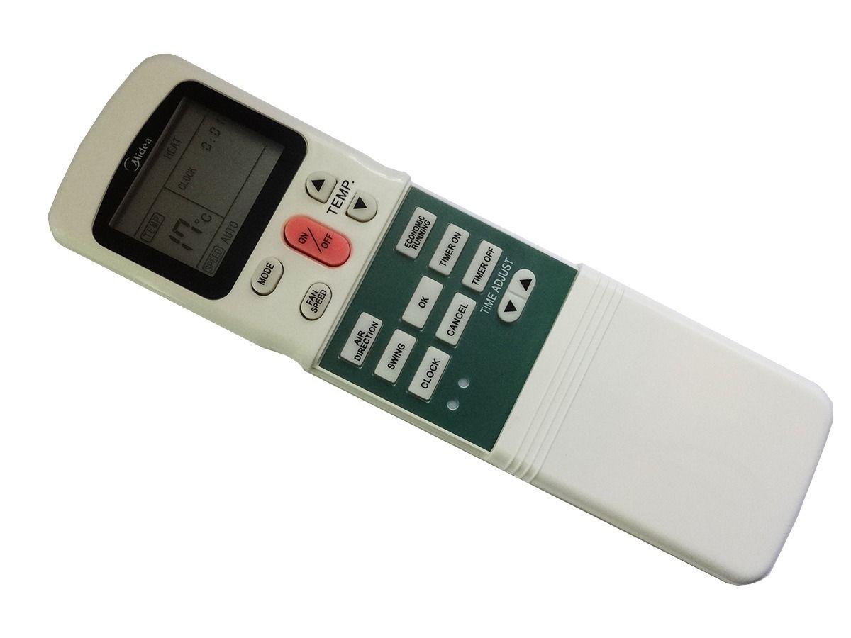 CONTROLE REMOTO MXT PARA AR CONDICIONADO SPLIT MIDEA / KOMECO / SPRINGER R11HG  - Mix Eletro