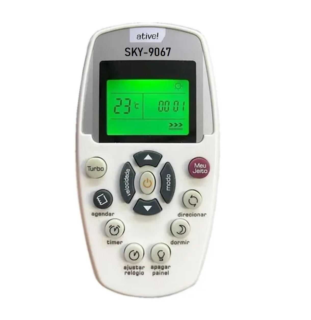 Controle Remoto SKY para Ar Condicionado Split Brastemp Active  - Mix Eletro