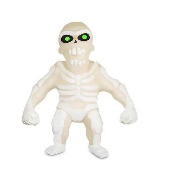 Boneco de monstro 14cm estica até 1m Estike Monster  Brilha no escuro - Esqueleto  - Mix Eletro