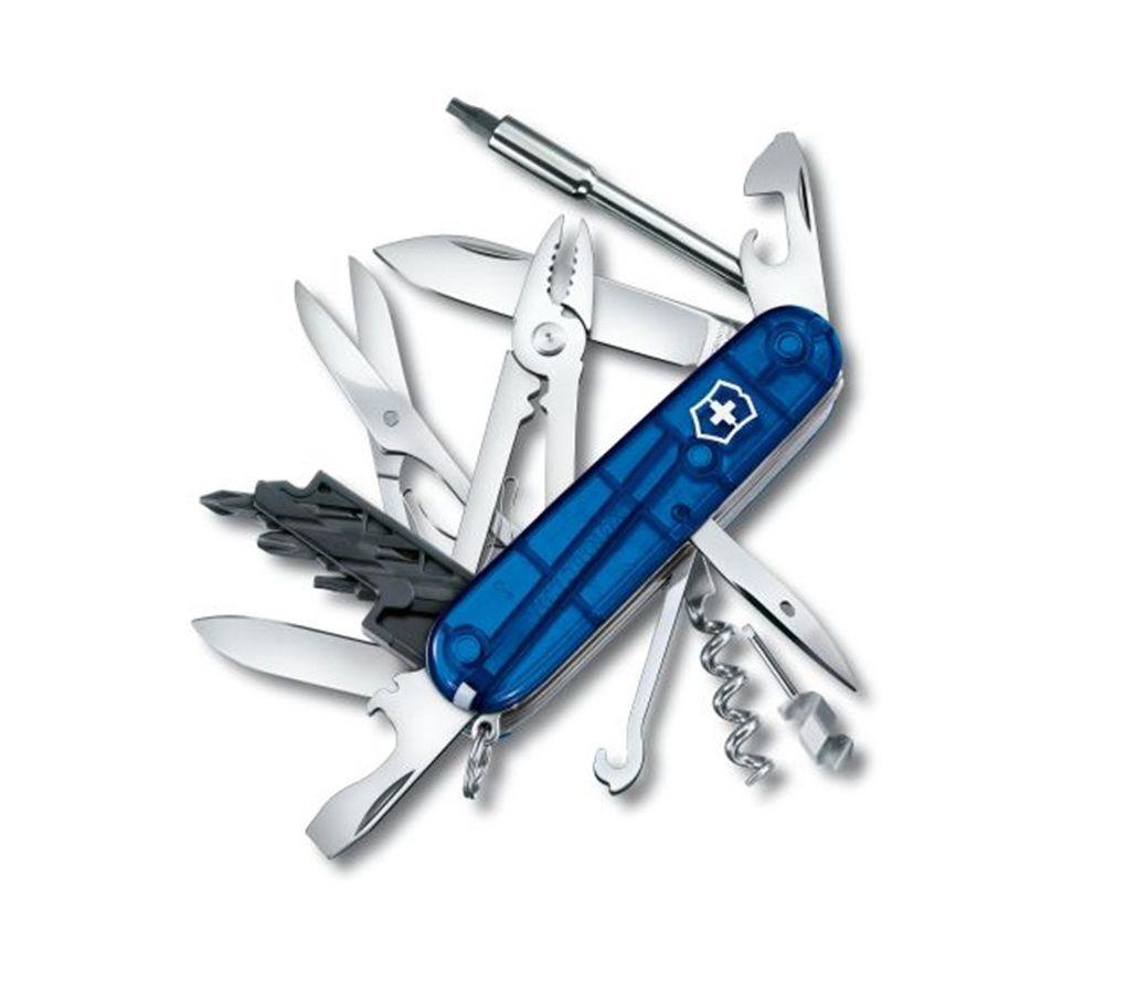 Canivete Suíço Victorinox CyberTool azul Translúcido 34 funções 1.7725.T2  - Mix Eletro