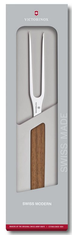 Garfo de carne 27cm Swiss Modern cabo nogueira Victorinox 6.9030.15G  - Mix Eletro