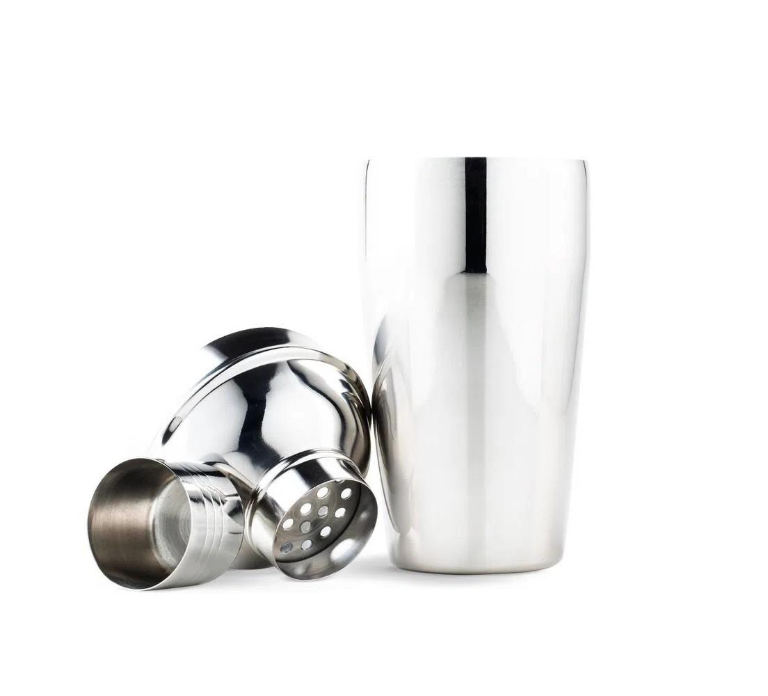 Coqueteleira 500ml em aço inox com coador e tampa Up Home  - Mix Eletro