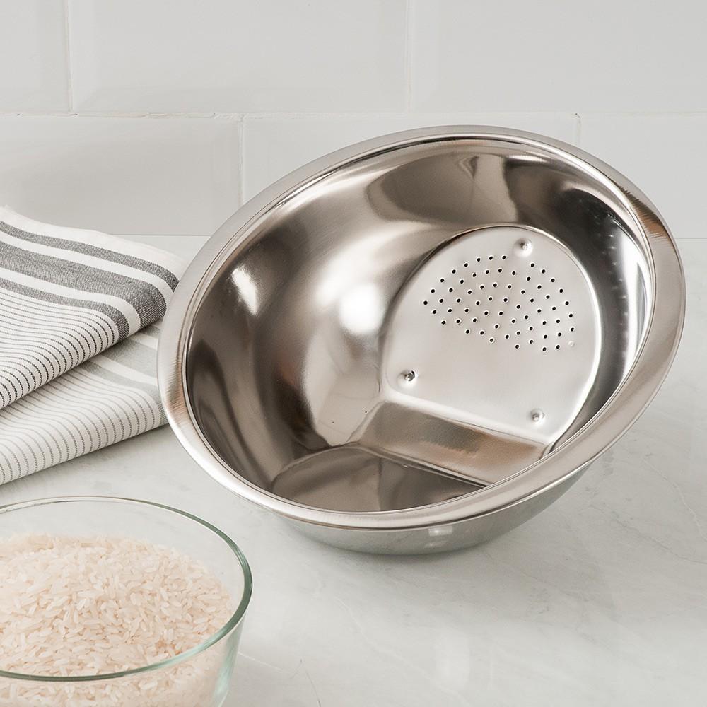 Escorredor de arroz em aço inox 25cm Up Home UD012  - Mix Eletro