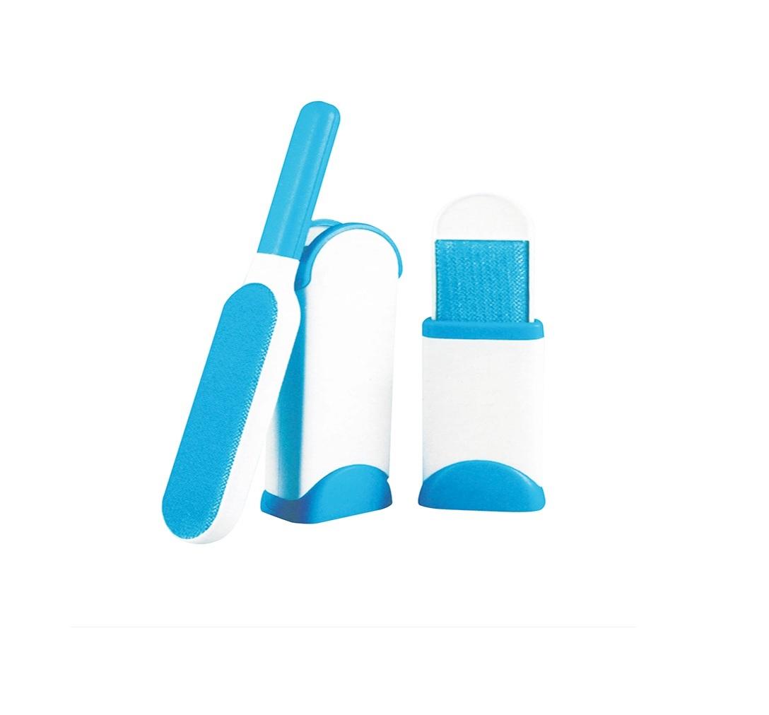 Escova mágica tira pelos autolimpante 32cm + Escova pequena 13cm  - Mix Eletro