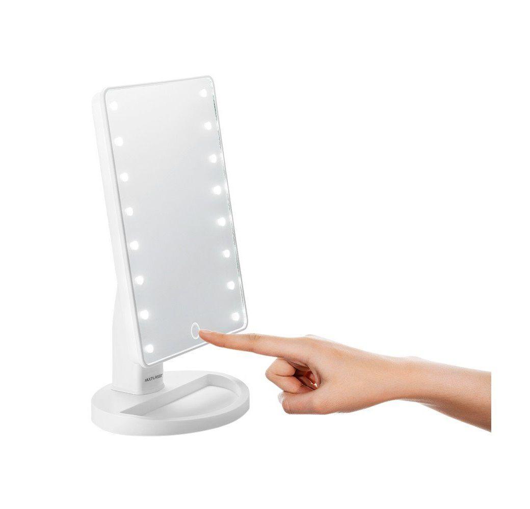 Espelho de Mesa com LED 180º c/ mini espelho de Zoom 5x Multilaser - HC174  - Mix Eletro