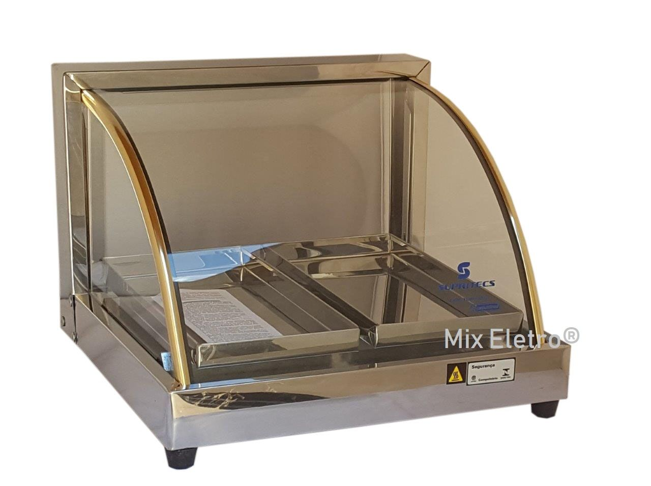 Estufa de salgados elétrica 37cm com 2 Bandejas Supritecs  - Mix Eletro