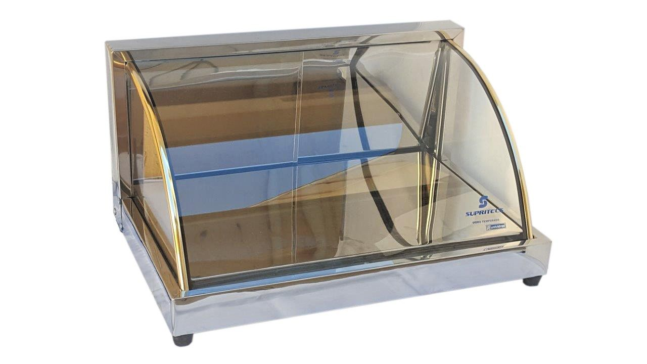 Estufa Fria Vitrine Gelo-x 54cm Supritecs c/ 3 Refis + 3 refis extras  - Mix Eletro