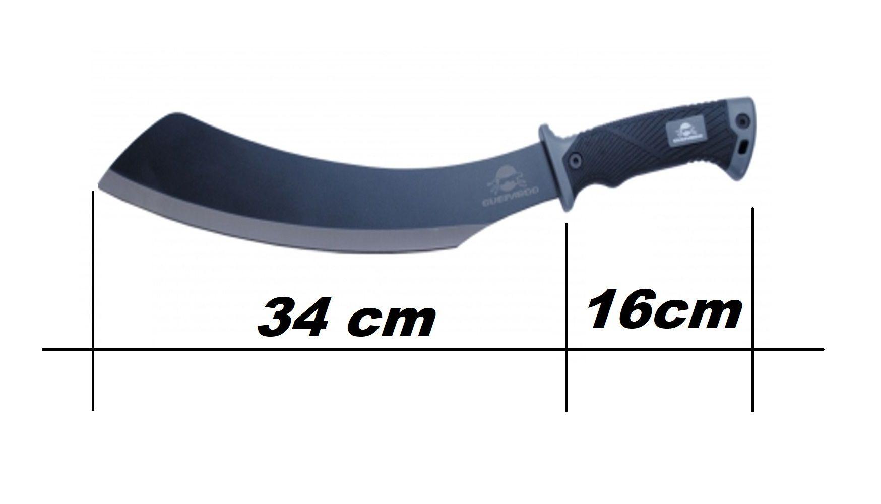 Facão angular alta performance 50cm aço inox 420 Dixon Guepardo  - Mix Eletro