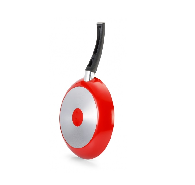 Frigideira Francesa antiaderente 24cm Magnific Vermelha Panelux  - Mix Eletro